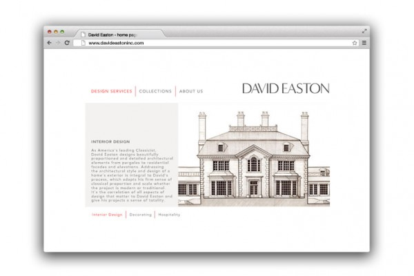 digital design, web design, website design, interior design website, interior designer website, designer website, identity, identity development, brand identity, company identity, logo design, David Easton, Kellyco, Kellyco Marketing