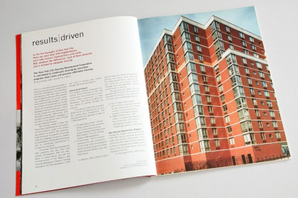 New York Housing Development Corporation Annual Report Series | concept, design, copywriting, copyediting, photography, photo editing, graphic production, pre-press, printing | Kellyco Marketing